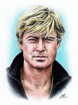 All American Drawing - Robert Redford by Andrew Read