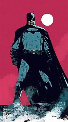 Robin And Batman Print by Egor Vysockiy