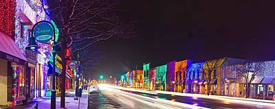 Rochester Christmas Light Display Print by Twenty Two North Photography