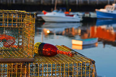 Row Boat Digital Art - Rockport Ma Lobster Traps by Toby McGuire