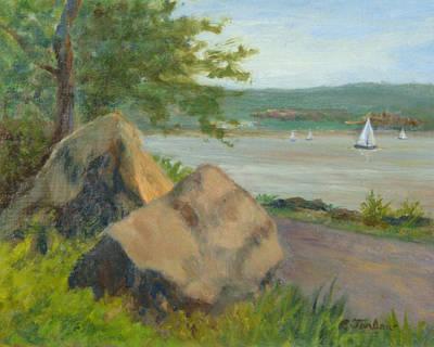 Rocks Along The Nyack Trail Print by Phyllis Tarlow