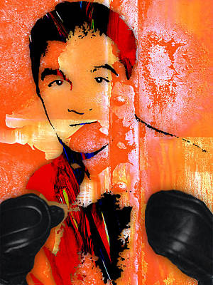 Boxer Mixed Media - Rocky Marciano Collection by Marvin Blaine