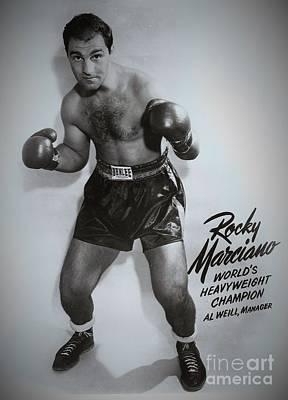 Rocky Marciano Print by Dennis ONeil