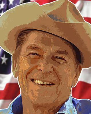 Ronald Reagan Print by John Keaton