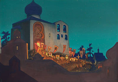 Nocturne Painting - Russian Easter by Nicholas Roerich