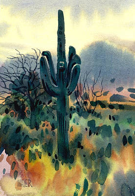 Sonoran Desert Painting - Saguaro by Donald Maier
