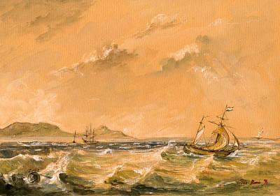 Sail-ship Painting - Sail Ship by Juan  Bosco