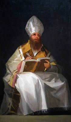 Book Painting - Saint Ambrose by Francisco Goya