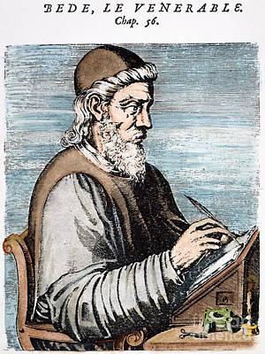 7th Century Photograph - Saint Bede (c672-735) by Granger