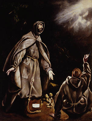 Catholic Painting - Saint Francis In Ecstasy by El Greco