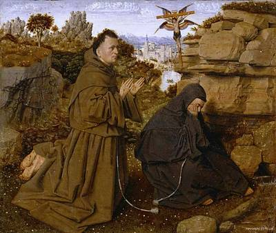 Saint Francis Of Assisi Receiving The Stigmata Print by Celestial Images