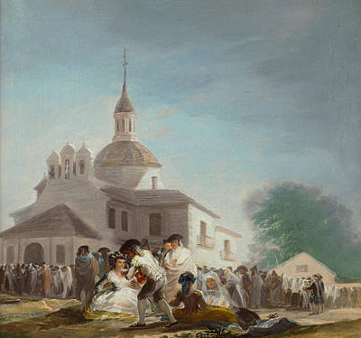 People Painting - Saint Isidore's Day At The Saint's Hermitage by Francisco Goya