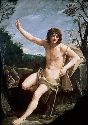 Guido Reni Painting - Saint John The Baptist In The Wilderness by Guido Reni