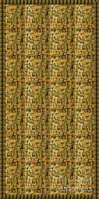 Handcrafted Mixed Media - Sale Fineart Golden Touch Hand Crafted Glass Tiles By Navinjoshi At Fineartamerica.com Shower Curtai by Navin Joshi