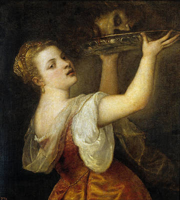 Beheading Painting - Salome With The Head Of John The Baptist by Titian