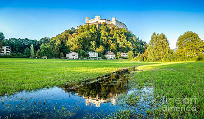 Cityscape Photograph - Salzburg Skyline With Fortress In Summer, Salzburger Land, Austr by JR Photography