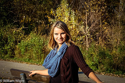 Fall Photograph - Sam Modeling by William Wight