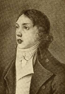Coleridge Drawing - Samuel Taylor Coleridge, 1772-1834 by Vintage Design Pics