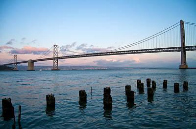 San Francisco Bay Bridge Print by Mandy Wiltse