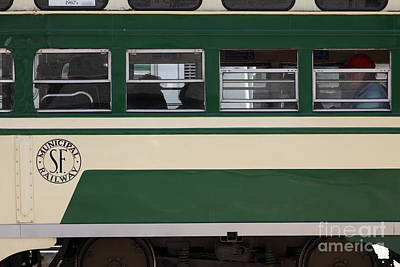 San Francisco Vintage Streetcar On Market Street . 5d17974 Print by Wingsdomain Art and Photography
