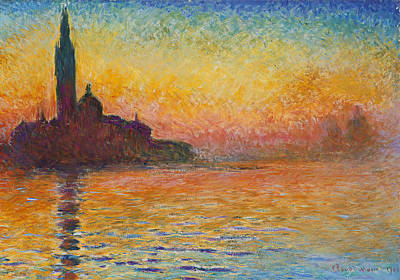 Italian Landscapes Painting - San Giorgio Maggiore By Twilight by Claude Monet