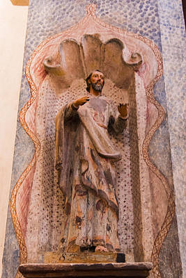 San Xavier Del Bac Mission - Interior Statue - Tucson Arizona Print by Jon Berghoff