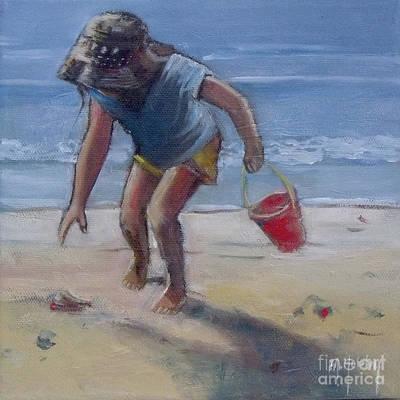 Seashell Painting - Sandy Seashell  by Mary Hubley