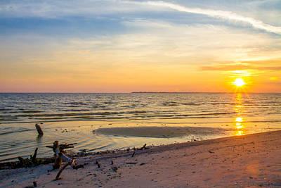 Seascape Photograph - Sanibel Sunset by J Darrell Hutto