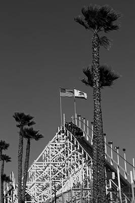 Rollercoaster Photograph - Santa Cruz Rollercoaster by Mountain Dreams