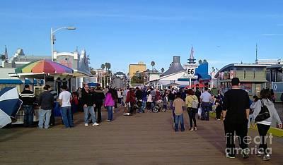 Santa Monica Mixed Media - Santa Monica Beach Pier by Kelly Blair