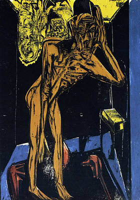 Expressionist Painting - Schlemihls In The Loneliness Of The Room by Ernst Ludwig Kirchner