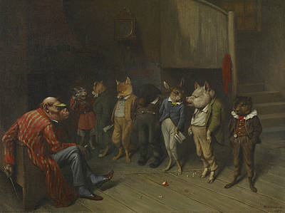 Chipmunk Painting - School Rules by William Holbrook Beard