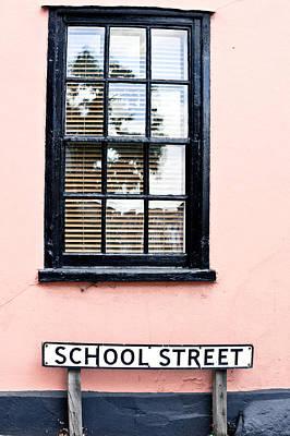 Window Signs Photograph - School Street by Tom Gowanlock