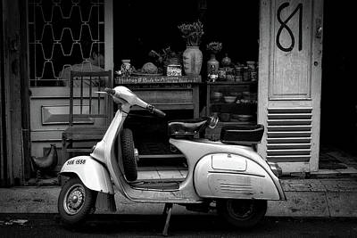 Storefront Photograph - Scooter - Ho Chi Minh City by Tao Xanh Kim