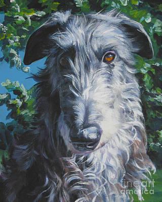 Scottish Dog Painting - Scottish Deerhound by Lee Ann Shepard