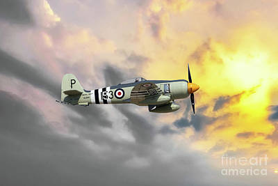 Fury Digital Art - Sea Fury by J Biggadike