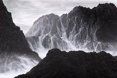 Plexiglas Photograph - Seal Rock Waves And Rocks 1 by Bob Neiman