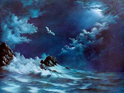 Soaring Painting - Searching by Bruce Gruenzel