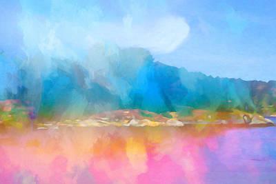 Impressionistic Landscape Painting - Seascape Imagination by Lutz Baar