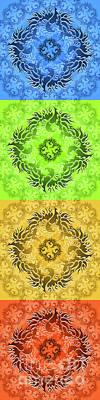 Phoenix Drawing - Seasons by Robert Ball