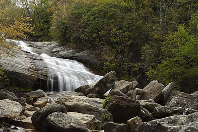 Second Falls - Blue Ridge Falls Print by Andrew Soundarajan