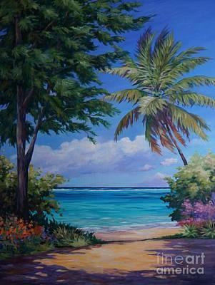 Bahamas Landscape Painting - Secret Beach by John Clark