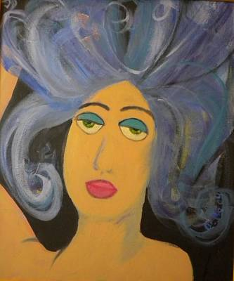 Tantra Painting - Self Portrait With An Aura by Bebe Brookman