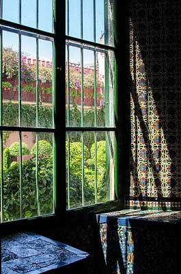 Blue Photograph - Seville - Azulejos Detail by Andrea Mazzocchetti