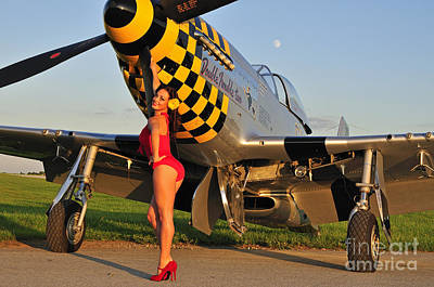 Nose Art Photograph - Sexy 1940s Style Pin-up Girl Posing by Christian Kieffer