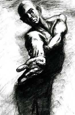 Shadow Dancing Drawing - Shadow Dancer by Dan Earle
