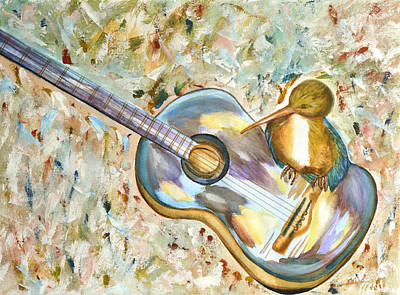Kingfisher Drawing - Shall Strum The Strings Unto The Lord O by Thecla Correya