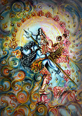 Tantra Painting - Shiva Shakti by Harsh Malik
