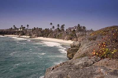 Shores Of Barbados Print by Andrew Soundarajan