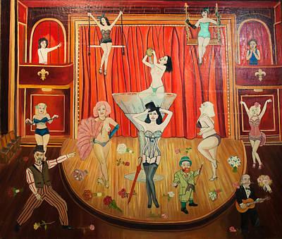 Dita Von Teese Painting - Show Girls by Fia Van den Berg